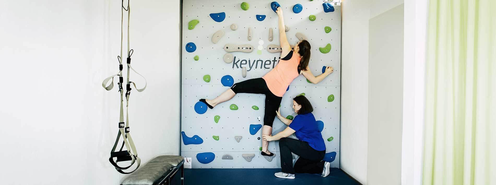 Therapeutisches Klettern bei keynetics